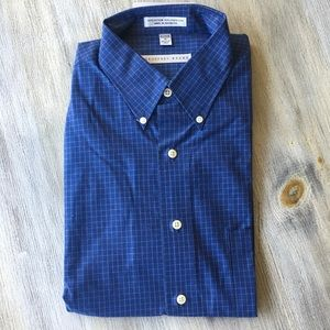 New Geoffrey Beene Men's Blue Dress Shirt Sz M